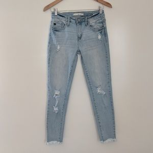 KanCan Mid Rise Distressed Skinny Jeans Size 26